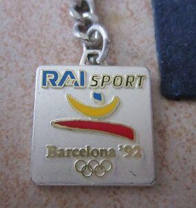 1992 Barcellona Olympics RAI italian media KEY CHAIN-  mostra il titolo originale - Italia - 1992 Barcellona Olympics RAI italian media KEY CHAIN-  mostra il titolo originale - Italia