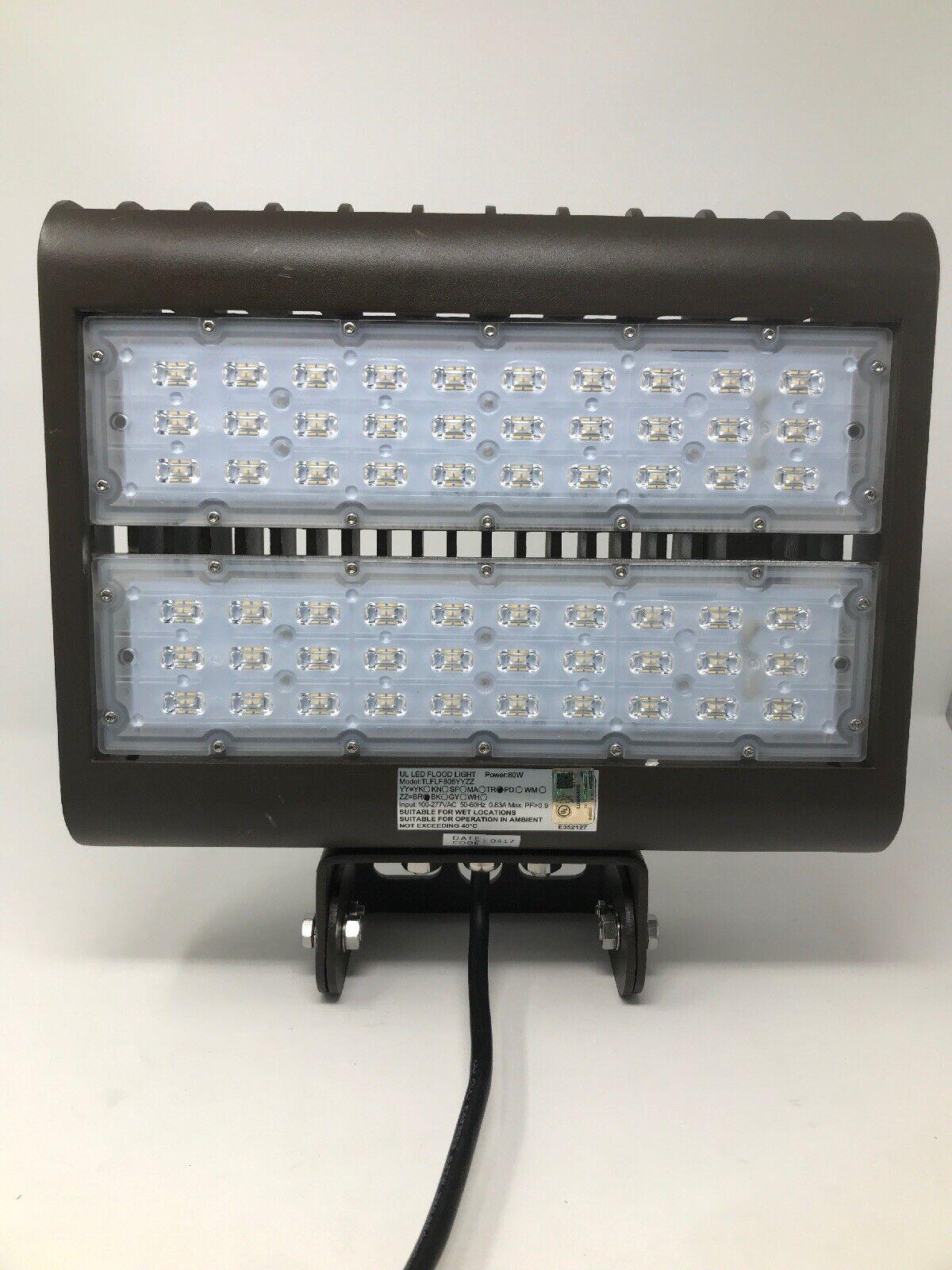 LED Luz de inundación multi propósito - 80W - 5000 Lumes-Nuevo Sin Caja-Envío Gratis