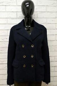 Cappotto-Donna-ROY-ROGERS-Taglia-44-M-Giubbino-Giubbotto-Giacca-Jacket-Blu-Lana