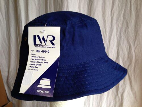 BNWT Boys Girls Royal Blue LW Reid Sz XS 53cm School Uniform Bucket Hat UPF 50+