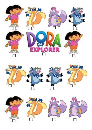 Dora The Explorer STAND UP Cupcake Fairy Cake Toppers Edible Paper Decorations