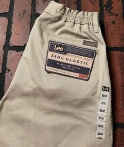 Lee-Side-Elastic-Pleated-Relaxed-Seat-Khaki-Pants-Men-039-s-Size-30-x-30