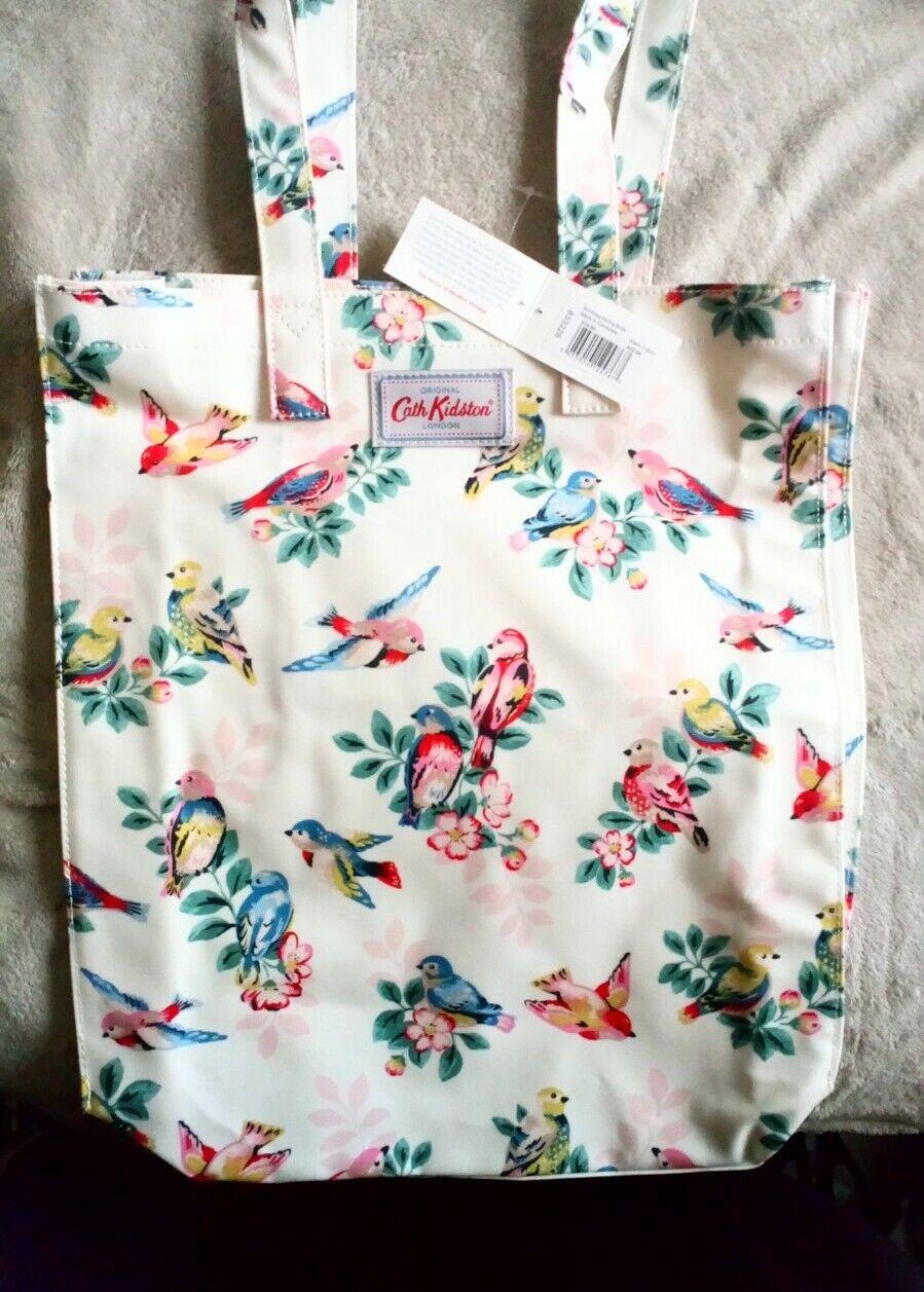 Cath Kidston Bookbag Spring Birds Cream New Free P&p