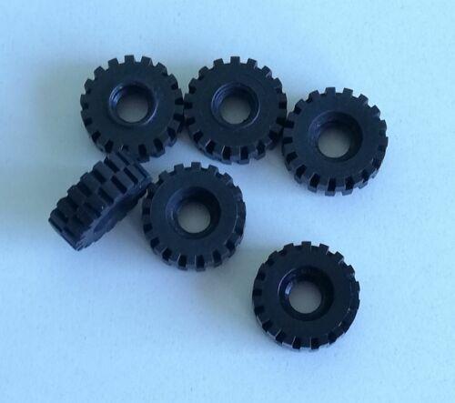 LEGO 6x Pneumatico Gomma Ruota 21x12mm NERO 4084