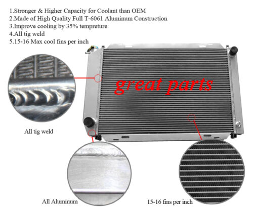 3 ROWS 1979-1993 FORD MUSTANG ALUMINUM RADIATOR FIT MUSTANG I4 V8