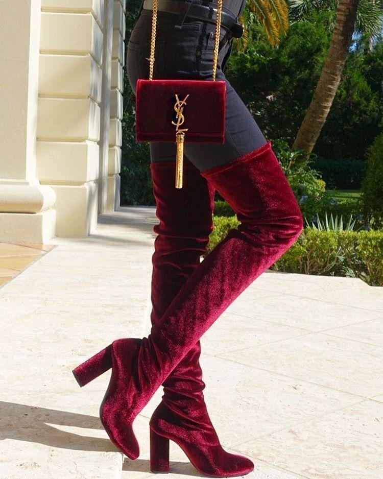 ZARA MAROON VELVET OVER THE KNEE HIGH HEEL REF Stiefel UK 3 6 REF HEEL 5008 101 2bce8e