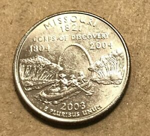 One Uncirculated from OBW Roll Ships Free 2003 D Missouri Statehood Quarter