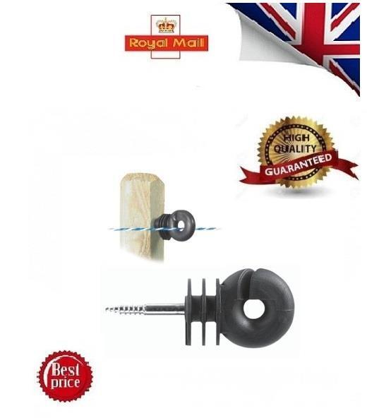 STRONG 400 x Ring Insulator Screw in Compact- Fence Electric Fencing LACME 01UK