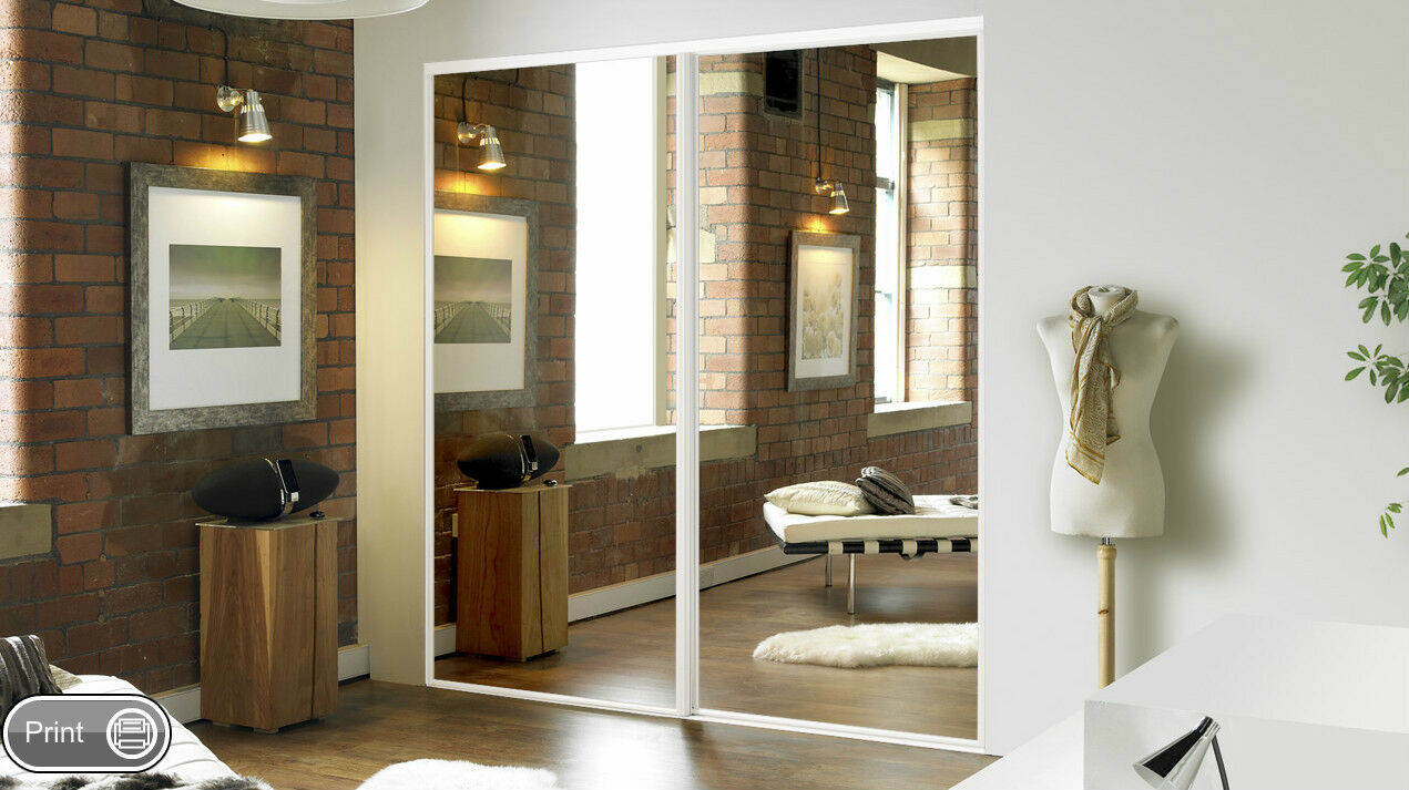 5 Sliding Mirror Wardrobe Doors Made To Measure Pre Assembled
