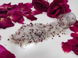 Rose Petals & Vanille MEDITERRANEAN SEA SALT BODY SCRUB BATH SALT WITH OLIVE OIL