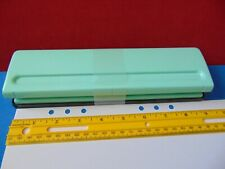 New Listingnew 6 Hole Paper Punch Turquoise Color With Tray