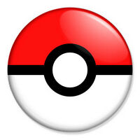 "Pokeball 25mm 1"" Pin Badge Button Pokemon Pikachu Manga Retro Cool"