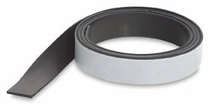 "Adhesive-Backed Magnetic Strip Tape - 2""x100'. Very strong for outdoor. 60 mil"