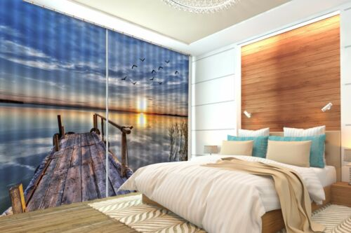 3D The sea 355 Blockout Photo Curtain Printing Curtains Drapes Fabric Window AU
