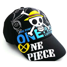 Anime One Piece Monkey D Luffy Skull Hat Cosplay Hats Snapback Baseball Cap Gift