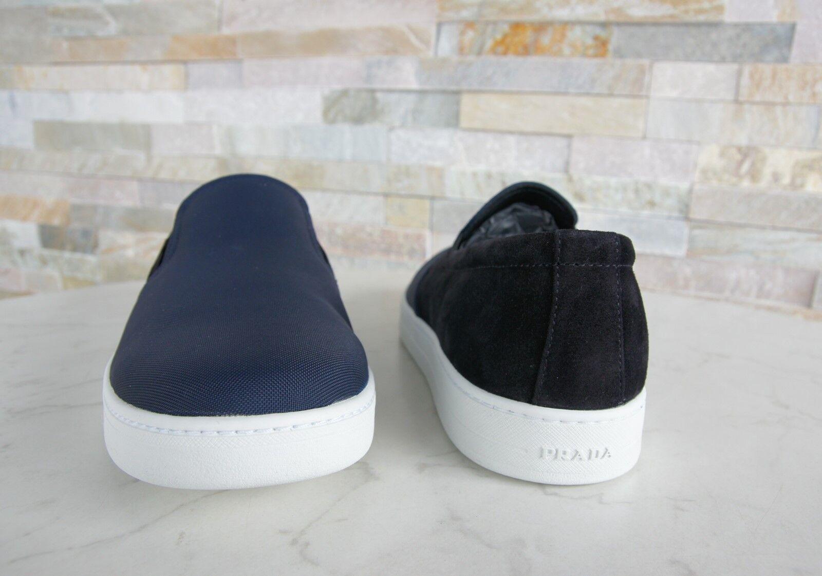 PRADA Schuhe Gr 7 41 Slipper Slip-Ons Halbschuhe Schuhe PRADA 4D2733 blau schwarz NEU b1bc6b