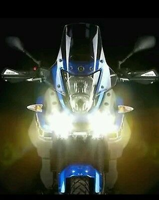 MOTORCYCLE * SCOOTER  CREE TYPE LED MINI SPOTLIGHT  DTR LIGHTS WITH BRACKETS