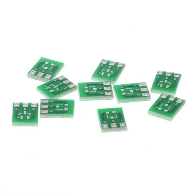 10 Pcs Double-Side SMD SOT23-3 To DIP SIP3 Adapter PCB Board DIY Converter Hot
