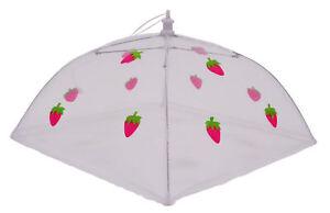 Epicurean-Folding-Mesh-Net-Food-Cover-Umbrella-Collapsible-48cm-Strawberry-BBQ