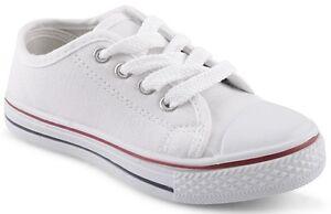 boys white canvas pumps trainers shoes size 6