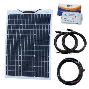 60 W 12 V Aluminium Renforcé Semi-flexible Solar Kit Pour Camping-car Camper Bateau-afficher Le Titre D'origine