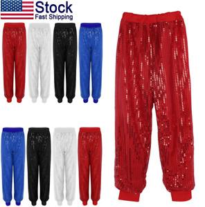 US-Women-Baggy-Harem-Pants-Sequins-Bloomers-hip-hop-jazz-dance-Clubwear-Trousers