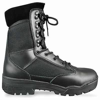 Lightweight Tactical Police Security Army Military Mens Leather Boots ALL SIZES
