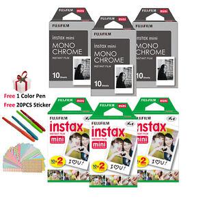 Fujifilm Instax Mini Monochrome Mono + White Film 90 Sheets Instant 7s 8 9 Photo
