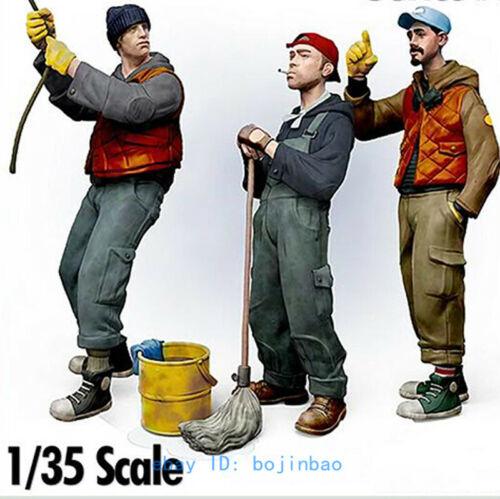 1//35 Scale Unpainted Model Kits Sailor Seaman Three Team Figure Unassembled New