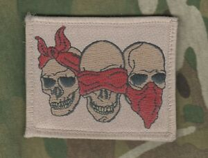 3-wise Skulls Say-See-Hear No Evil SEAL NETWORKED NINJA OPERATOR vel©®⚙ PATCH