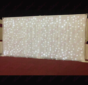 White Starlight Curtain Led Backdrop Led Star Cloth