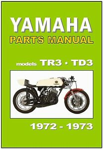 Yamaha parts manual tr3 and td3 1972 and 1973 replacement for Yamaha ysp 5600 manual