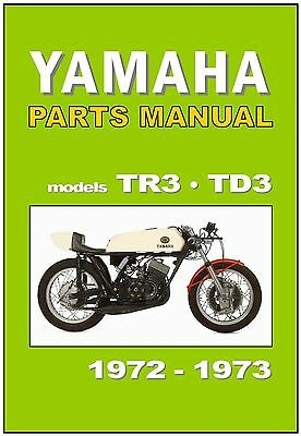 yamaha l2gf wiring diagram yamaha parts manual tr3 and td3 1972 and 1973 replacement spares  yamaha parts manual tr3 and td3 1972