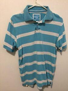 Old navy horizontal stripe casual mens polo shirt light for Horizontal striped dress shirts men
