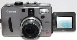 canon powershot g1 digital camera 3 3 mega pixel 3x optical zoom rh ebay com canon powershot g1 x manuale d'uso canon powershot g1 manual pdf