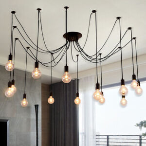 Details About Retro Industrial Vintage Pendant Lamp Kitchen Edison Bulb Hanging Ceiling Light