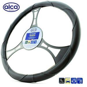 Large steering wheel cover XL size 41-43cm Truck Van Motorhome black leatherlook
