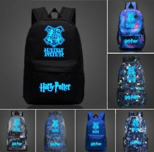UK Harry Potter Hogwarts School Badge  Backpack Book Bag Rucksack Gift For Child