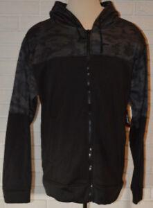Men-039-s-Zone-Pro-Black-Geo-Long-Sleeve-Full-Zip-Hoodie-Fleece-Jacket-M-L-XL-2X