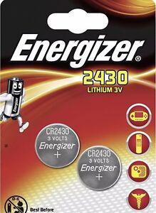 Détails Sur 2 X Pile Energizer Cr2430 Lithium Clef Voiture Calculatrice Montre Validité 2026