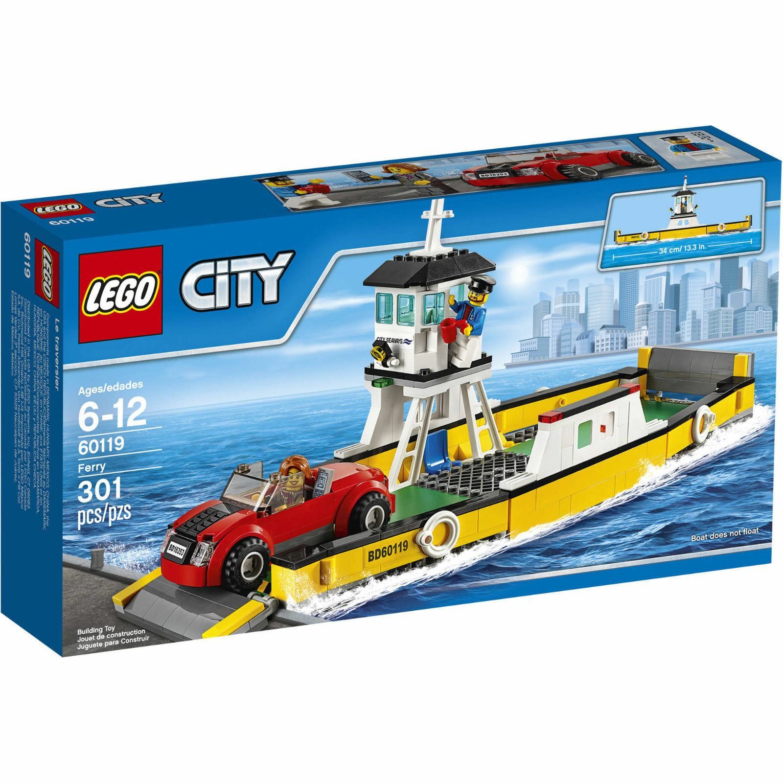 LEGO 60119 CITY FERRY  NEW  IN SEALED BOX  LEGO CITY TOWN BOAT SHIP