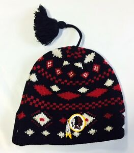 Image is loading Washington-Redskins-Knit-Beanie-Toque-Winter-Hat-Skull- 5e1a5d9c7
