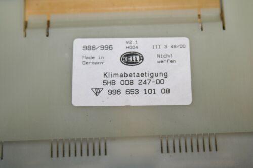 986 Boxster 01-04 AC Heater Dash Climate Control Unit BX Porsche 996 911 02-05