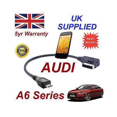 Audi A6 Series 4f0051510m Cable For Lg Google Nexus 4 Micro Usb Audio Connection Ahorra 50-70%