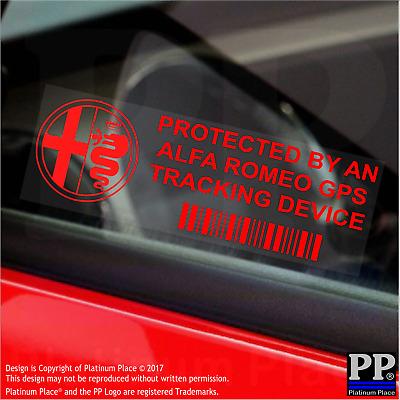 5 x RED- Alfa Romeo-GPS Tracking Device Security Stickers-Car Alarm Tracker