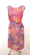 L191/14 Monsoon Seda Floral Multicolor Sleevless romántico Dress, UK 12 euro 40