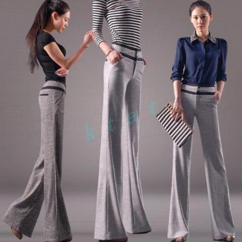 Bell Bukser Bukser Wide bottom Formal Fashion Office domstol Kvinders Ol Straight 5nwzSpTfq