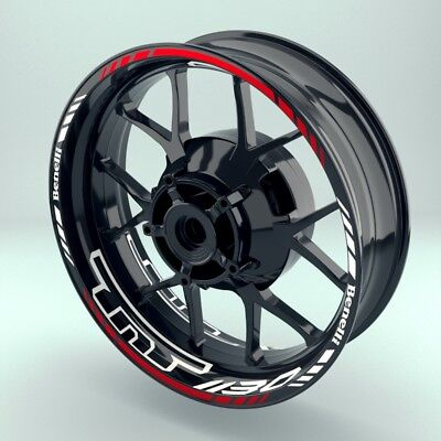 100% Waar Felgenaufkleber Motorrad Felgenrandaufkleber Wheelsticker Benelli Tnt1130 Set Verlichten Van Warmte En Dorst.