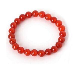 Bracelet-elastique-Pierres-naturelles-Agate-rouge-17-5-cm-perles-8mm-unisexe