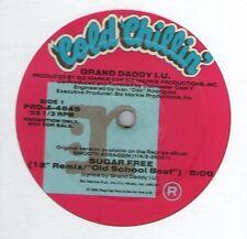 "GRAND DADDY I.U. / SUGAR FREE (REMIX) 12"" OG US 1990 PROMO HIP HOP BIZ MARKIE"